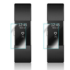 2x High Quality Clear Screen Protector Cover for Fitbit Charge 2
