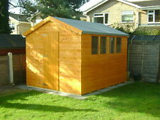 10FT X 8FT TOP QUALITY TONGUE & GROVE APEX GARDEN SHED