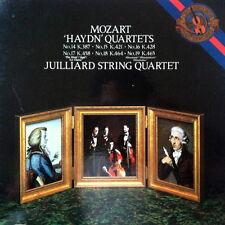 """JUILLIARD QUARTET / Mozart """"Haydn"""" Quartets / CBS Masterworks M3 37856 3LP"""