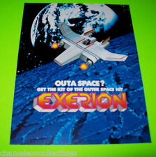 EXERION By TAITO 1984 ORIGINAL NOS VIDEO ARCADE GAME MACHINE PROMO SALES FLYER