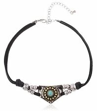 Soft Leather Choker with Native American Style Pendant
