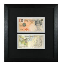 2 FRAMED MOUNTED BANKSY DI FACED TENNERS £10 PRINCESS DIANA TEN POUND BANKNOTE