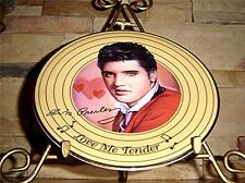Solid Gold Elvis Presley LOVE ME TENDER Bradford Exchange Plate