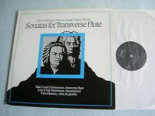 J.S. BACH/HANDEL Sonatas for Transverse Flute Christiansen/Mortensen/Hansen LP