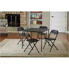 Folding Table Chairs Set Coffee Kitchen Dining Living Room Card Game Office 5 Ps