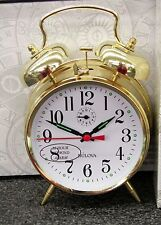 "BULOVA - MECHANICAL BRASS FINISHED ALARM CLOCK ""BELLMAN ""  B8124"