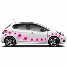 FLOWER PINK DECAL CAR STICKERS GRAPHICS WINDOW WALL BODY PANEL NEW