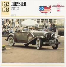 1932-1933 CHRYSLER Series CI Classic Car Photograph / Information Maxi Card