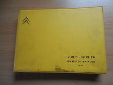 Ersatzteil - Katalog Citroen ID 21 F / ID 19 FA ab Sept. 1966