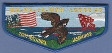 MA-KA-JA-WAN LODGE 40 2001 NATIONAL JAMBOREE BOY SCOUT OA FLAP PATCH S35