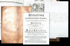 1787 Burghausen aus der Bibliothek von Kurfürst Karl Theodor mit Original-Brief