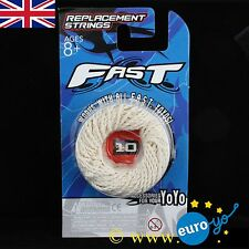 YoyoFactory FAST White Yo-Yo Strings pre-tied suitable for all yo-yos Pack of 10
