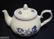 Willow Pattern 6 Cup English Fine Bone China Tea Pot By Milton China (print A)
