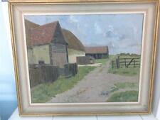 OIL ON BOARD PAINTING 'HOLE FARM' GREAT LEIGHS-JAMES KIDWELL POPHAM c1884-1966