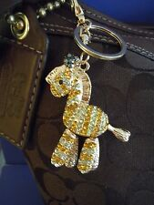 BIGGEST SALE ! FABULOUS BLING ZEBRA Rhinestone Purse Charm Accessory / KEYCHAIN