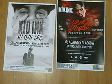 Kid Ink - Scottish tour Glasgow concert gig posters x 2