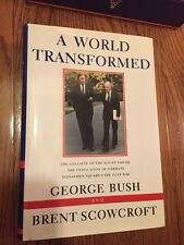 President GEORGE HW BUSH & BRENT SCOWCROFT - Their Book Signed 1st ED