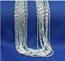 Wholesale 925 silver lots 1pcs Hexagonal Chain Necklace 22 inches K206-22-1