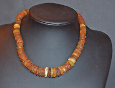 Vintage Baltic Necklace  Butterscotch Amber Jewelry Beads 45 gr