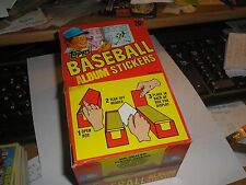 1982 Topps Baseball Unopened Sticker Box 100 PACKS