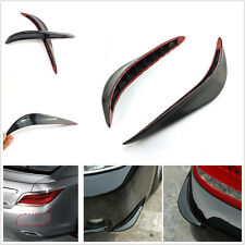 2 x Black Car Body Bumper Exterior Decorative Protector Crash Bar Anti-rub Strip