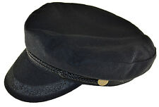 Broner Wool Blend Fisherman Cap Greek Sailor Hat Black Medium