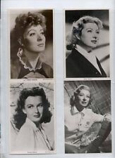 Greer Garson, F gilford collection 1930s movie film star photo postcard  lot of4
