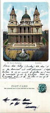 1903 St PAULS CATHEDRAL LONDON WRITE AWAY POSTCARD
