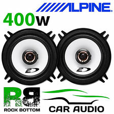 "ALPINE PEUGEOT 206 1998 Onwards 5.25"" 13cm 2 Way 400W Coaxial Rear Door Speakers"
