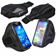 Black Mesh Galaxy S3 i9300 Strong ArmBand Case For SPORTS GYM BIKE CYCLE JOGGING