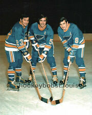 COLORED Skates! The PLAGER BROTHERS St. Louis BLUES Custom LAB 8X10 AWESOME NEW!