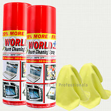 2/Pack Screen Spray Foam Cleaner by World Plus, Electronics Foam Cleaning Spray