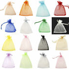 100 LARGE QUALITY ORGANZA BAGS COLOURS Pouch Wedding Favour Bag Gift 7x 9cm Pick