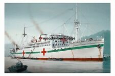 rp02833 - Japanese Navy Hospital Ship - Hikawa Maru - photograph