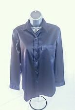 Donna Karan DKNY Satin Touch Shirt - Dark Blue - UK Size 10