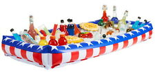 "RED WHITE BLUE INFLATABLE SALAD BAR BUFFET BEER DRINK COOLER 54"" X 24"" LUAU ETC"