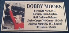 Soccer Bobby Moore  picture Gold Sublimated Plaque NEW Free Postage