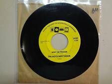 "BOYS NEXT DOOR:Why Be Proud 2:29-Suddenly She Was Gone-U.S. 7"" 1965 Soma 1439"