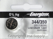 1 pc 344 / 350 Energizer Watch Batteries SR1136SW 0% HG