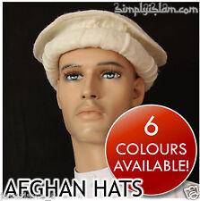 cream color Handmade afghan pakol pakul wool hat cap topi for men and women