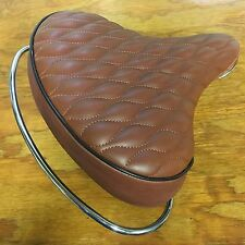 BICYCLE SEAT FOR SCHWINN OTHERS SPRINGS / WEB BAR QUALITY COMFORT BIG WIDE