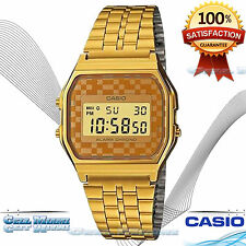 Casio A159WGEA-9A Men's Vintage Gold Tone Chrongoraph Daily Alarm Digital Watch!