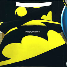Batman - Large Bat Signal - DC Comics - Queen Bed Quilt Doona Duvet Cover Set