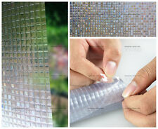 Cut Glass Squares privacy security window film 3ft x 3ft Static Cling removable