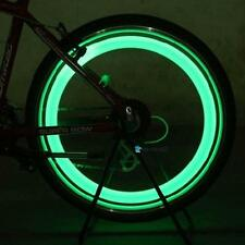 Night Ride Green Lights Bicycle Bike Cycling Wheel Tire Spoke LED Light Lamp QWT