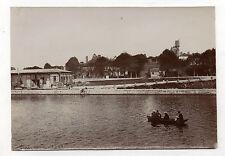 PHOTO Vintage 1905 - SENS FRANCE YONNE - Quai de l'Entrepot Barque A. Barbier