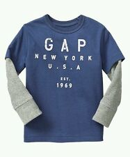 AUTH. BNWT GAP BABY BOYS 2 IN 1 LOGO TEE,  (18-24M)