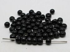 500 Black 8mm Round Wood Beads~Wooden Spacer Beads Jewelry Making
