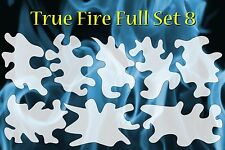 Real Flame True Fire 8 Large Templates Airbrush Stencil Spray Vision Template