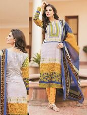 Elegant Cotton Designer Printed Unstitched Dress Material Salwar Suit No AA4
